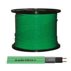 Греющий кабель саморегулирующийся для обогрева труб без защитного экрана xLayder EHL16-2, 16 Вт/ пог. м