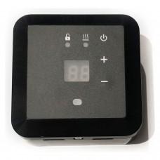 Терморегулятор Эрголайт ТР 09 Чёрный (накладной, цифровой), 3,5кВт