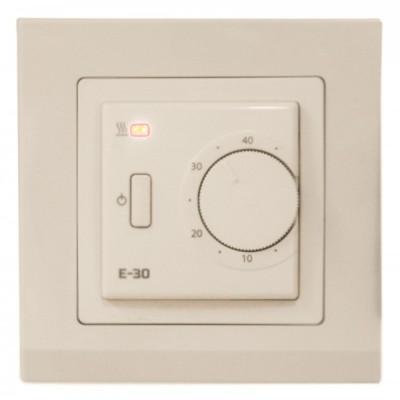 Терморегулятор для теплого пола EASTEC Е-30 кремовый (механический, встраиваемый), 3,5кВт