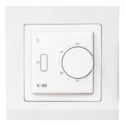 Терморегулятор для теплого пола EASTEC Е-30 белый (механический, встраиваемый), 3,5кВт