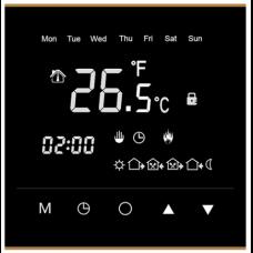 Терморегулятор RTC черный (сенсорный, программируемый, встраиваемый), 3,5 кВт