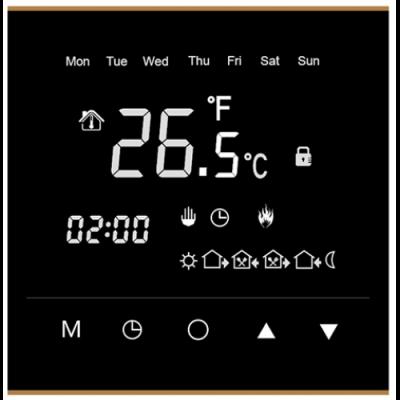 Терморегулятор RTC черный (сенсорный, программируемый, встраиваемый)