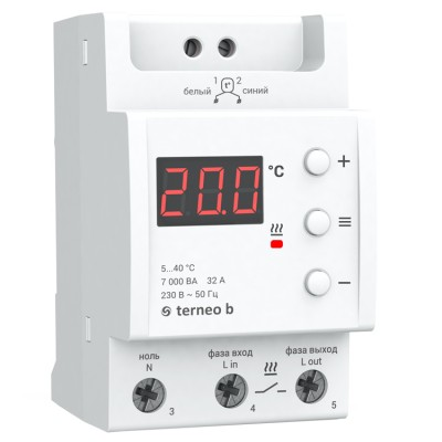 Терморегулятор Terneo b для больших мощностей